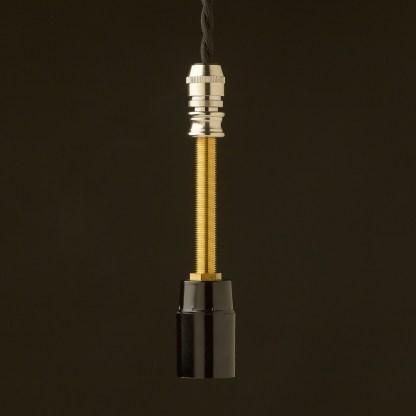 Glass insulator E12 DIY pendant light kit