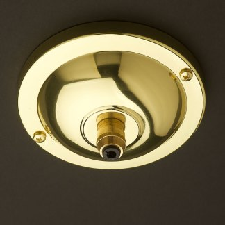 Polished brass 4 Inch J-Box canopy