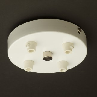 White multiple drop cord grip ceiling canopy