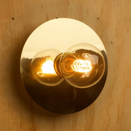 7 inch new brass wall mount disc sconce G80 vintage spiral
