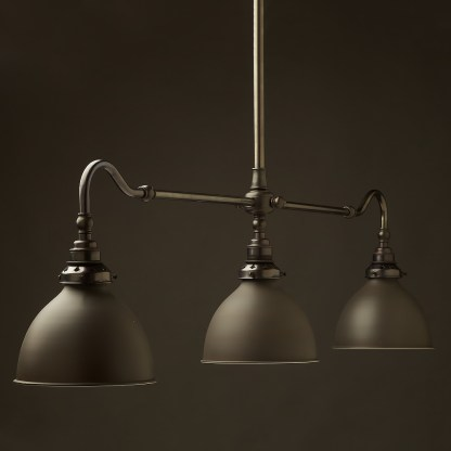 Bronze single drop Billiard Table Light bronze dome
