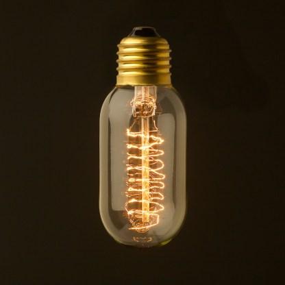Vintage Edison Spiral filament tube globe