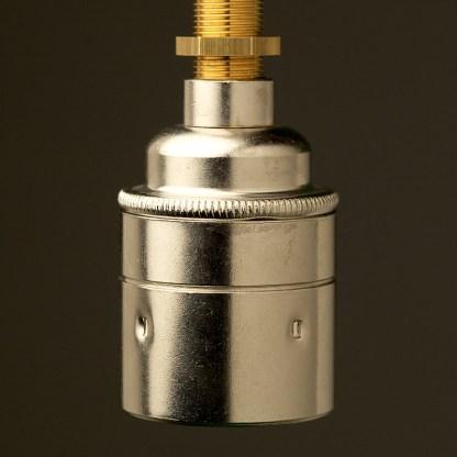 Nickel Threaded Lampholder Edison E27 smooth
