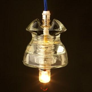Hemingray Insulator No 62 Clear SES pendant light