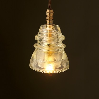 Hemingray Insulator No42 Clear SES pendant light