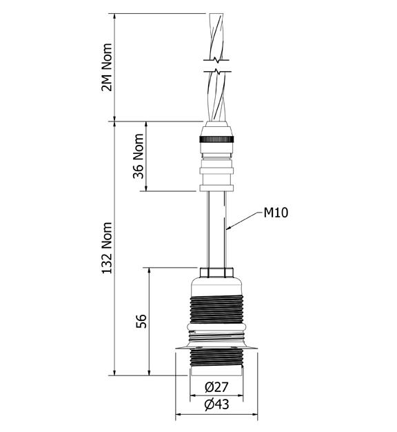 Glass insulator E14 DIY pendant light kit