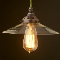 Clear glass coolie lampshade pendant