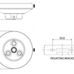 Flat black multiple drop cord grip ceiling plate