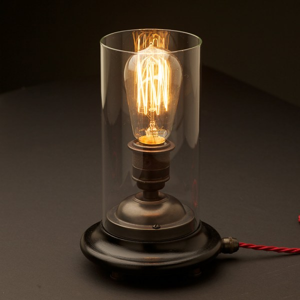 Vintage Small Glass Table Lamp