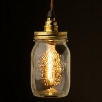 Preserving Jar Brass E14 240V pendant light