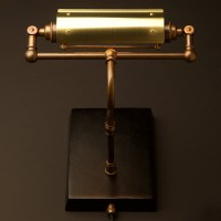 Vintage Brass Steampunk Banker Table Lamp
