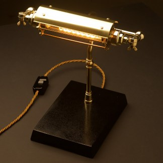 New Brass Steampunk Banker Table Lamp