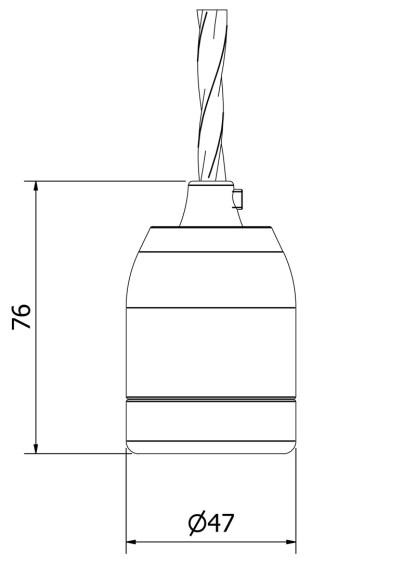 Edison style light bulb E27 White Plain Porcelain fitting