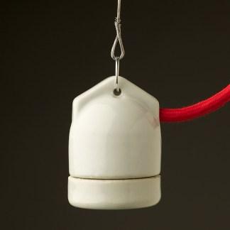 White Side Entry Porcelain E27 pendant lampholder