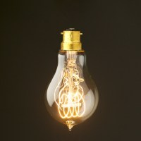 Vintage Edison round tungsten filament B22 bulb