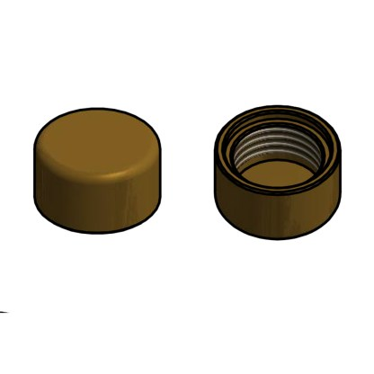 Brass screw cap
