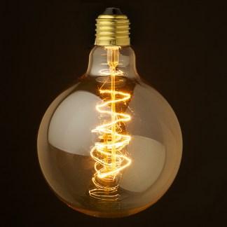 Vintage Edison Spherical spiral filament bulb 125mm