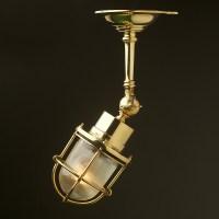 Adjustable Ships caged glass ceiling light  Edison Light ...
