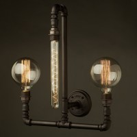 Plumbing Pipe Wall Lamp E27 3 lights