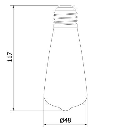 Vintage Small Edison Squirrel Cage Teardrop filament bulb