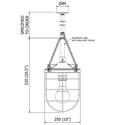 10 inch Aluminum Explosion Proof Pendant Light