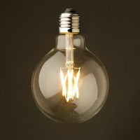 3.5 Watt Dimmable Filament LED E27 Clear 95mm bulb