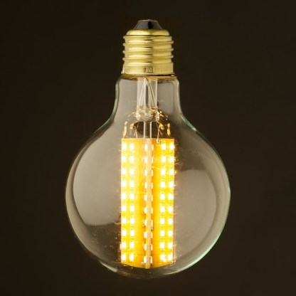 6 Watt Dimmable LED E27 Clear 80mm round bulb