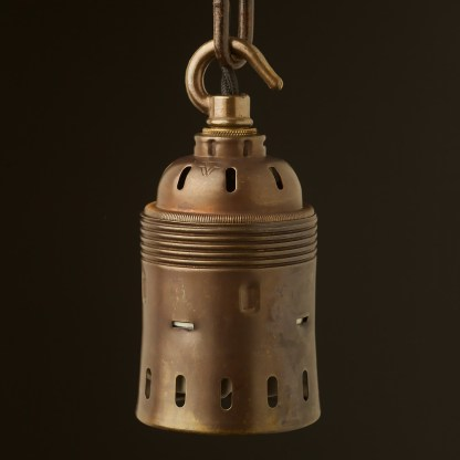Hook top E40 Antique brass lamp holder