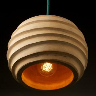 Mango Wood E27 Lampholder Pendant
