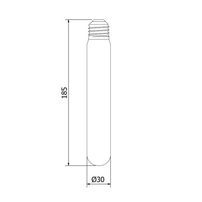 2 Watt Dimmable Filament LED E27 Clear Medium Tube