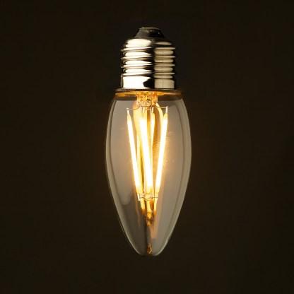 3 Watt Dimmable Filament LED E27 Candle Bulb