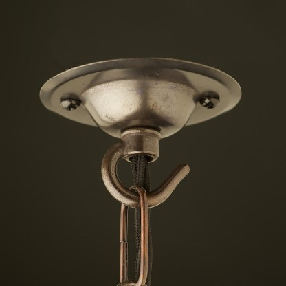 Bronze Chain hook ceiling rose 75mm