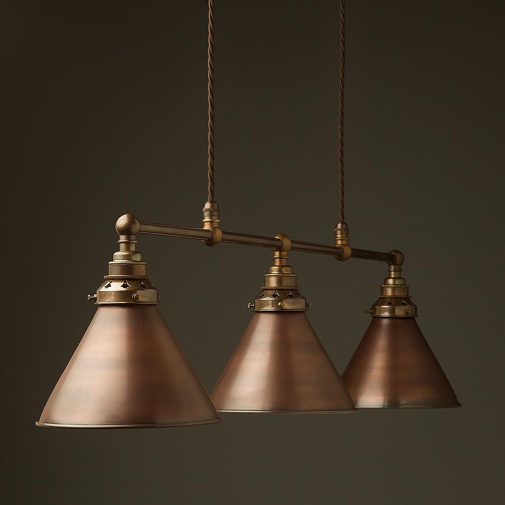 Antique Brass Edison Billiard Table Pendant