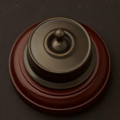 Federation Antique Brass single light switch