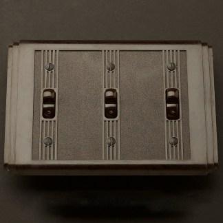 Bakelite Art Deco triple switch