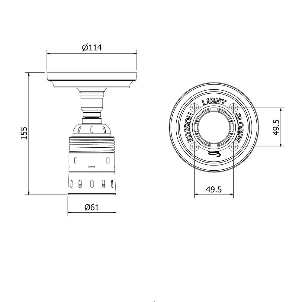 Batten Holder Edison E40 fitting?resize=665%2C665&ssl=1 hpm batten holder wiring diagram wiringdiagrams batten lamp holder wiring diagram at bakdesigns.co