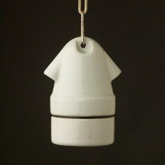 Twin entry E27 ceramic lampholder