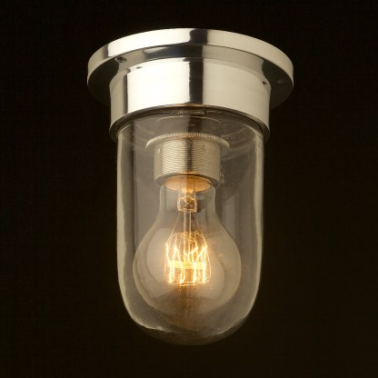 Small aluminum flushmount light