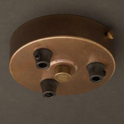 Brass Multiple drop Plastic Cord grip ceiling plate