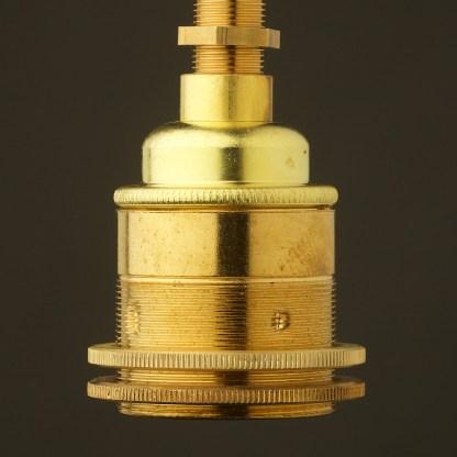 New Brass Threaded entry Lampholder Edison E27