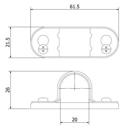 20mm Galvanised Spacer Bar Saddle