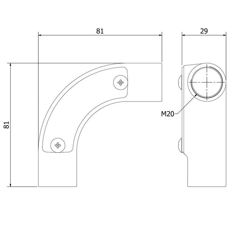 20mm Conduit Inspection Bend