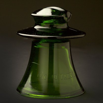 CD Russian Glass Insulator Green