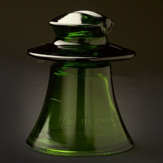 CD Russian Glass Insulator Green