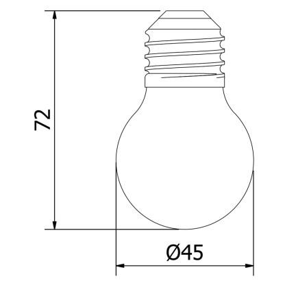 Vintage E27 25W Clear Round Bulb