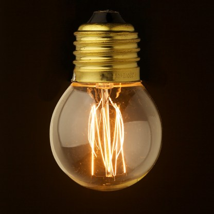 Vintage E27 25W Clear Round Bulb