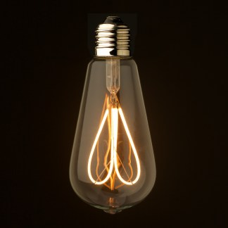 3 Watt Dimmable Loop Filament LED E27 Clear Edison