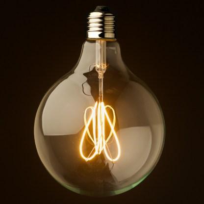 3 Watt Dimmable Loop Filament LED E27 Clear 125mm