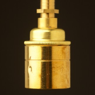 New Brass threaded entry Smooth Lampholder Edison E27