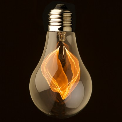 Vintage clear glass flicker flame bulb
